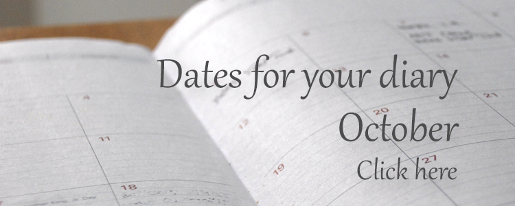 Dates for your diary - October 2016