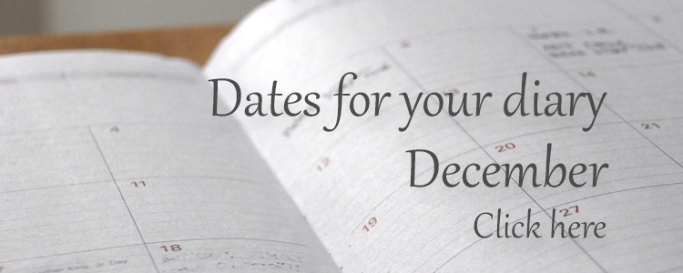 Dates for your diary - December 2016